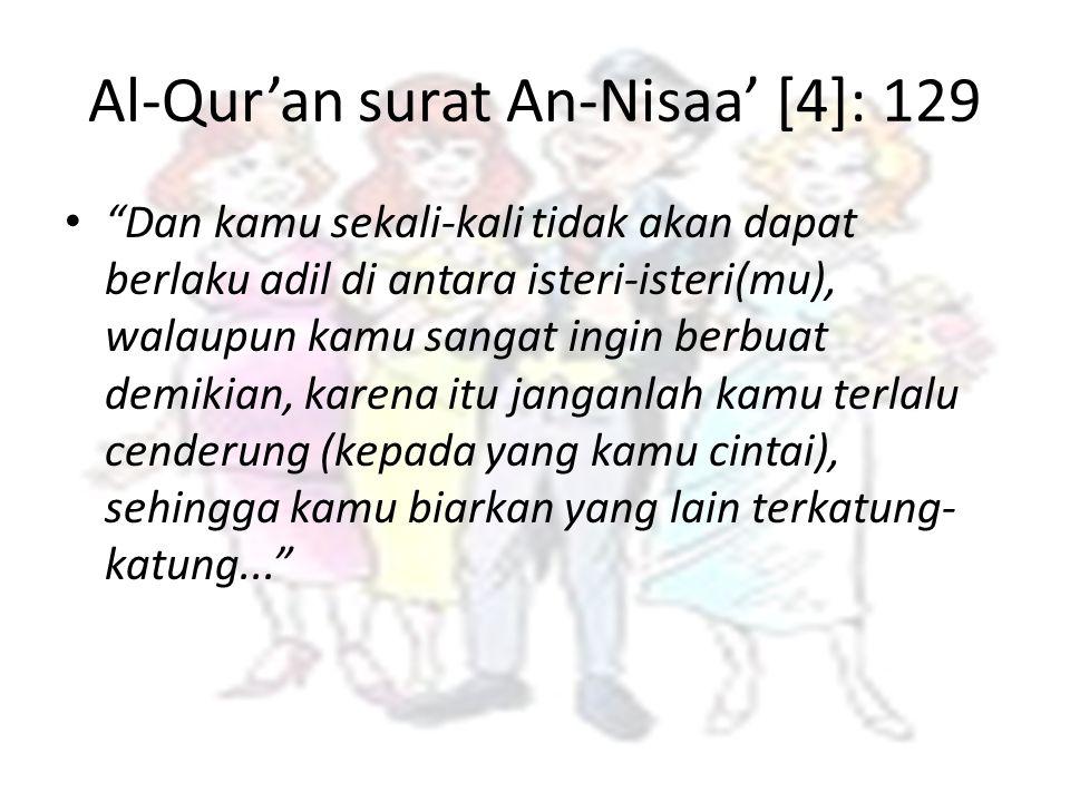 Al-Qur'an surat An-Nisaa' [4]: 129